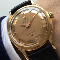 Omega Constellation de luxe grand solid pink gold 18ct rose...