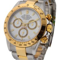 Rolex Used 116523_used_white_Stick Daytona Steel and Gold Ref...