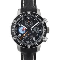 Fortis Pc-7 Team Edition Chrono Auto Day/date Watch Leather...