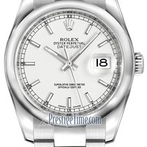 Rolex Datejust 36mm Stainless Steel 116200 White Index Oyster