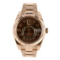 Rolex Sky-Dweller Chocolate Arab Rose-gold - 326935