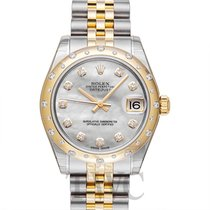 Rolex Datejust 31 White MOP Steel/18k Yellow Gold Dia 31mm -...