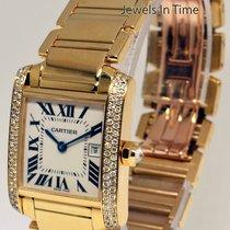 Cartier Tank Francaise 18k Gold & Diamond Midsize Watch...