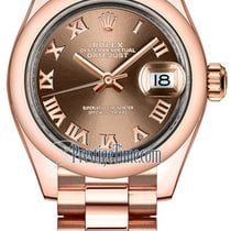 Rolex Lady Datejust 28mm Everose Gold 279165 Chocolate Roman...