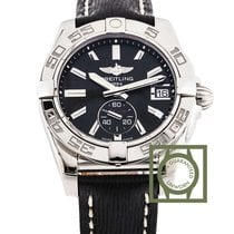 Breitling Galactic 36mm Black Dial Sahara Leather Strap NEW
