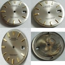 Rolex pie pan dial silver lndex gold for datejust non quick set