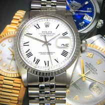 Rolex Datejust 36mm Stainless Steel White Roman Dial Automatic...