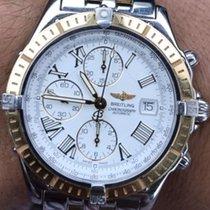 Breitling Crosswind  White Roman 18 K Gold & Steel...