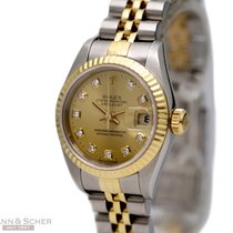 Rolex Lady Datejust Ref-79173 18k Yellow Gold Stainless Steel...