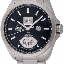 TAG Heuer : Grand Carrera GMT :  WAV5111.BA0901 :  Stainless...