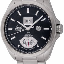 TAG Heuer : Grand Carrera GMT :  WAV5111.BA0901 :  Stainless...