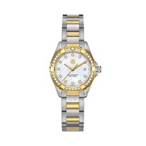 TAG Heuer AQUARACER 300M LADY 27MM GOLD, WHITE MOTHER OF PEARL...