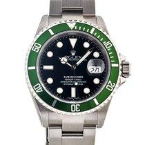 Rolex Submariner Date 40mm Ghiera Verde Nos In Acciaio Ref....