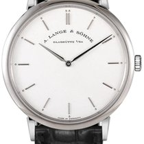 A. Lange & Söhne A  Saxonia Thin Black Leather Men's...