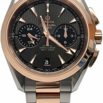 Omega Aqua Terra 150m Co-axial GMT Steel and Rose Gold...