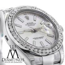 ロレックス (Rolex) Mens Rolex Datejust Ii Silver Dial 41mm ...