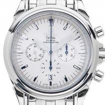 Omega DeVille Co Axial Stahl Automatik Chronograph Armband...