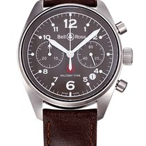 Bell & Ross 126 Pilot Military Type Like New w/Box and...