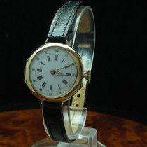 18kt 750 Gold Handaufzug Damenuhr Armbanduhr / Umgebaute...