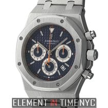 Audemars Piguet Royal Oak Stainless Steel Chronograph Blue...