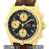 브라이틀링 (Breitling) Chronomat 18k Yellow Gold 39mm Black Dial Ref.
