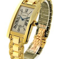 Cartier W26035K2 Tank Americaine Mid Size in Yellow Gold - on...