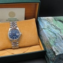 Rolex DATEJUST 1601 SS Original Matte Blue Dial with Paper