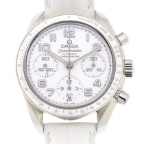 オメガ (Omega) Speedmaster Stainless Steel White Automatic...