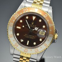 Rolex GMT-Master Root Beer Bezel 18K Yellow Gold & SS...