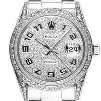 Rolex Datejust Custom Stahl 18kt Weißgold Diamond 4,8ct...