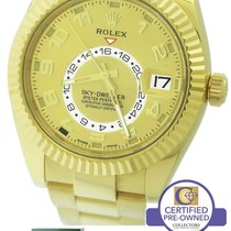 Rolex Sky-Dweller 42mm 18K Yellow Gold Champagne Arabic 326938