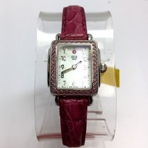 Michele Deco Mini Steel Ladies Watch W/ 84 Pink Factory...
