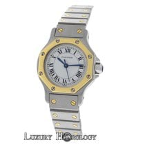 Cartier Mint Ladies Octagon Automatic Stainless Steel  Gold 25MM