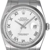 Rolex Datejust Men's Steel Watch with Smooth Bezel 116200