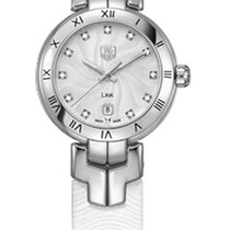 TAG Heuer Link Diamond Silver Guilloche Dial Steel Ladies Watch