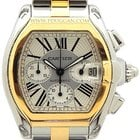 Cartier stainless steel and 18k yellow gold Roadster Chronograph