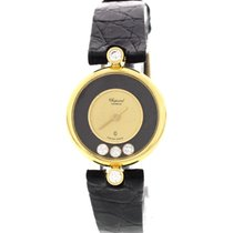 Chopard Ladies Chopard Happy Diamonds 18K Yellow Gold Watch