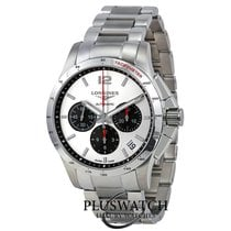 Longines Conquest Chronograph Silver Dial Stainless Steel  R