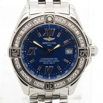Breitling B Class A67365 Blue Dial With Diamond Bezel Lady&#39...