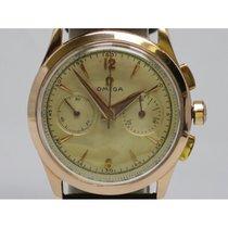 Omega Vintage Chronograph Pink Gold Ot 2872