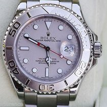 Rolex Mens Yachtmaster Watch Platinum Stainless Steel Year...