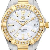 TAG Heuer Aquaracer Lady Steel Gold Bracelet Diamonds WBD1321B...
