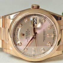 Rolex Day Date, Ref. 118205 - rosa Diamant ZB/Präsidentband