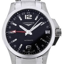 Longines Conquest GMT 41 Black Dial