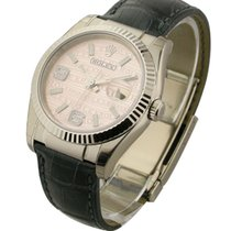 Rolex Unworn 116139_pink_wave_dial Mens Datejust - White Gold...