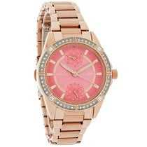 Citizen Eco-Drive Ladies Crystal Rose Gold Tone Watch FD3003-58X