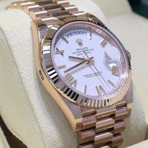 Rolex President 40mm Day-date 228235 18k Rose Gold White Roman...