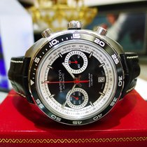 Hamilton Stainless Steel Pan Europ Caliber H31 Chronograph...