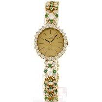 オメガ (Omega) Ladies Omega De Ville 18k Yellow Gold Diamonds...