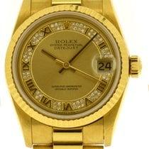 Rolex Datejust Midsize 18k Gold, Diamond Cluster Dial, Ref: 68278